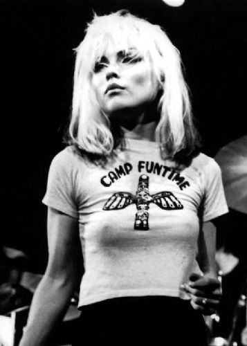BLONDIE - Debbie Harry - Camp funtime Portrait canvas print - self adhesive poster - photo print